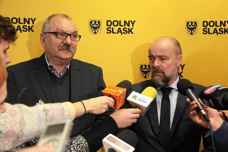 Marszałek Cezary Przybylski i wicemarszałek Michał Bobowiec
