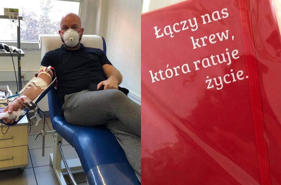 Prezydent Wrocławia Jacek Sutryk oddał osocze