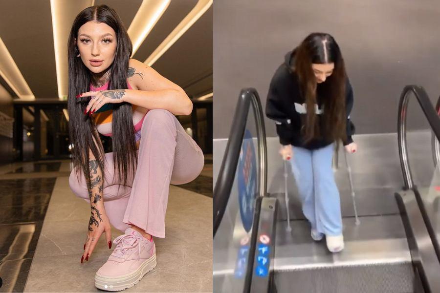 Marcysia z Ekipy Friza złamala nogę na urodzinach Wersow