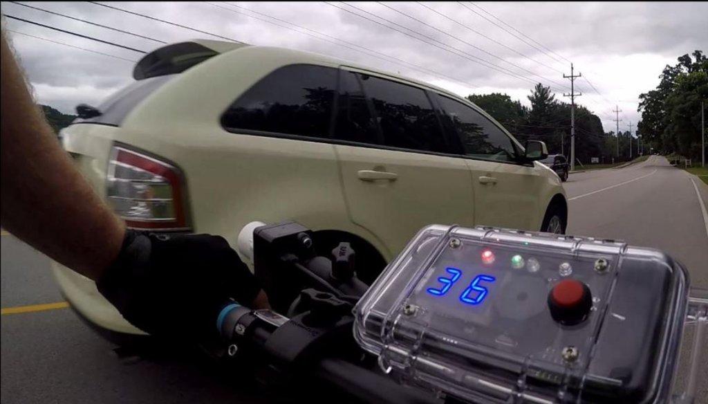 BSMART - czujnik zmierzy, czy samochód mija rower w prawidłowej odległości