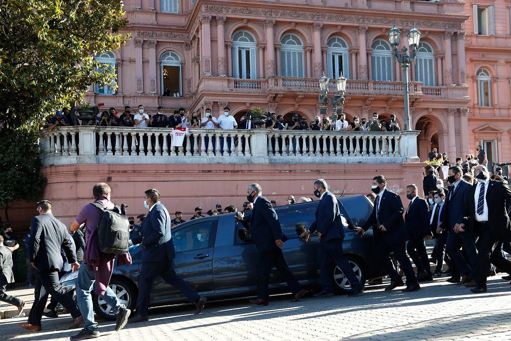 Pogrzeb Diego Maradony. Buenos Aires, Argentyna, 26 listopada 2020 r.