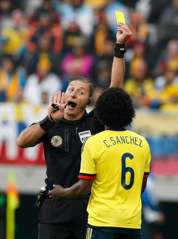 Kolumbia - Peru 0:0. Sędzia Nestor Pitana i Carlos Sanchez