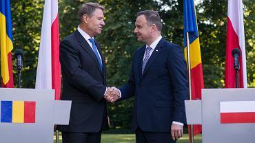 Prezydent Rumunii Klaus Iohannis i prezydent RP Andrzej Duda