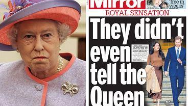 Królowa nie widziała o decyzji Meghan i Harry'ego