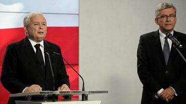 Stanisław Karczewski i Jarosław Kaczyński