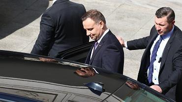 Andrzej Duda odwiedził szpital przy Szaserów