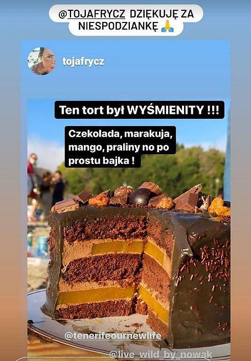 Olga Frycz świętuje urodziny Łukasza Nowaka