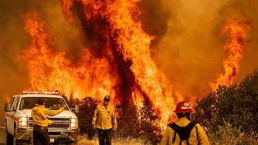 USA, Kalifornia. Pożar w hrabstwie Lake, 26 sierpień 2020 r.