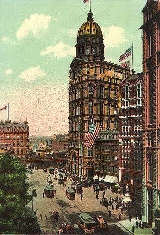 New York World Building - pierwszy wieżowiec na Manhattanie