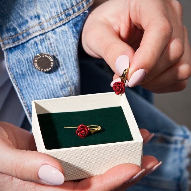 Kolczyki z kolekcji Rosarium