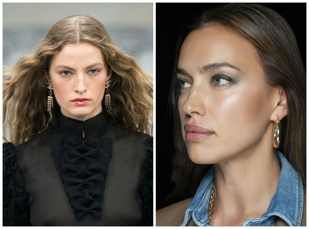 Od lewej: makijaż z pokazu SS2020 Chanel, SS2020 Brandon Maxwell