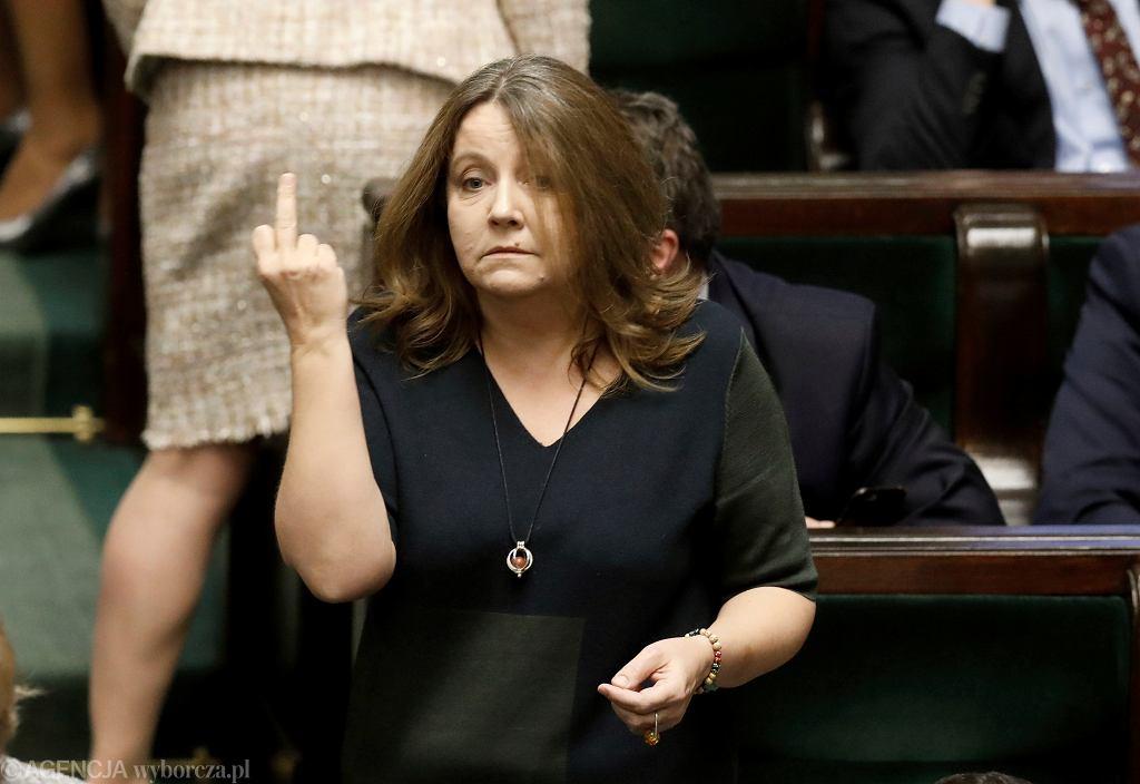 Posłanka PiS Joanna Lichocka. Piąte posiedzenie Sejmu X kadencji