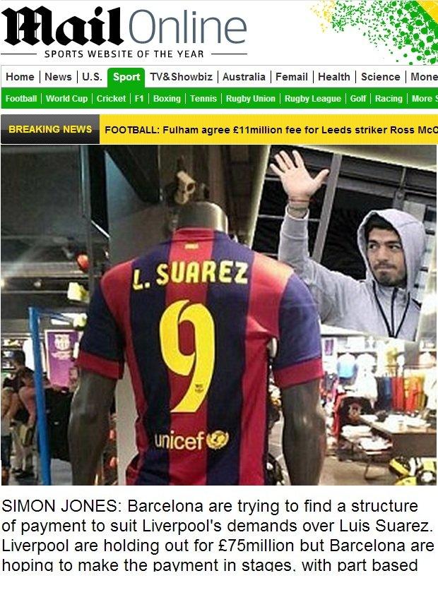 Koszulki Suareza dostępne w sklepie Futbolmania.