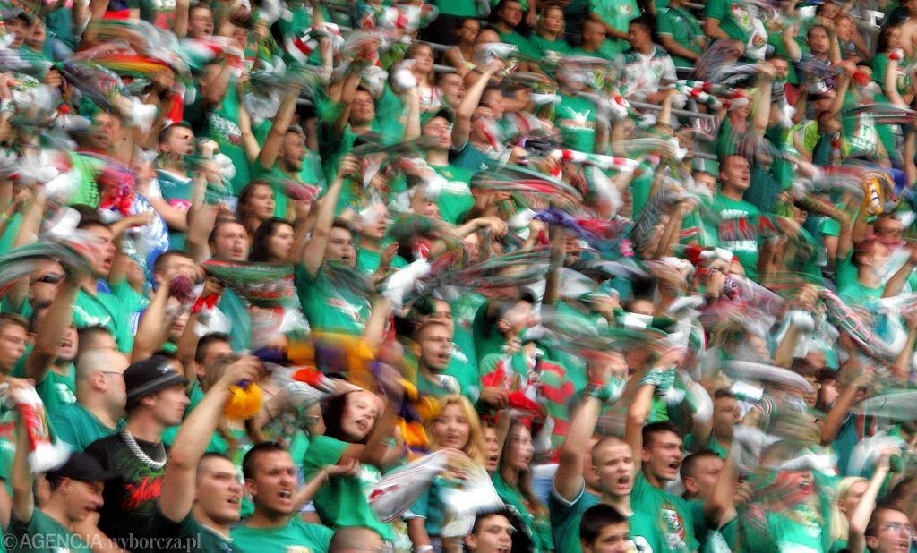 Kibice podczas meczu Slask Wroclaw - Legia Warszawa