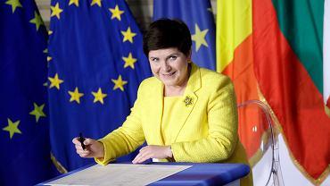 Premier rządu PiS podpisuje deklarację rzymską