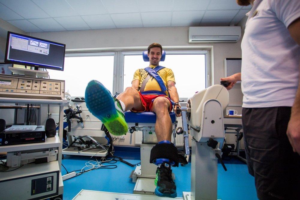 Vladimir Volkov na testach medycznych w Lechu Poznań