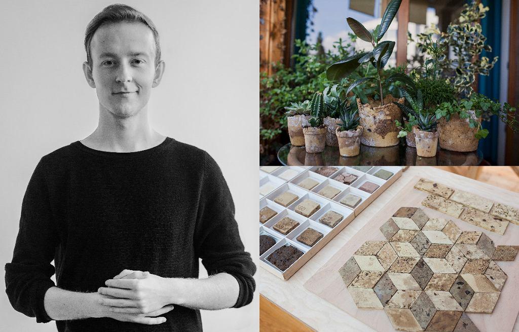 Projektant Mateusz Mioduszewski i jego projekt 'ASHka - ceramika z popiołu'