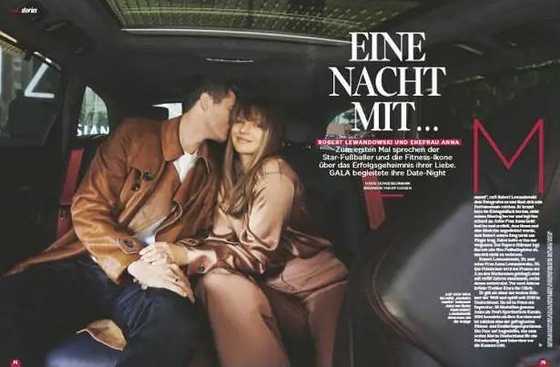 Anna Lewandowska i Robert Lewandowski w niemieckiej ''Gali'