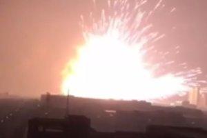 Potężna eksplozja w Tiencin w Chinach. Są setki rannych