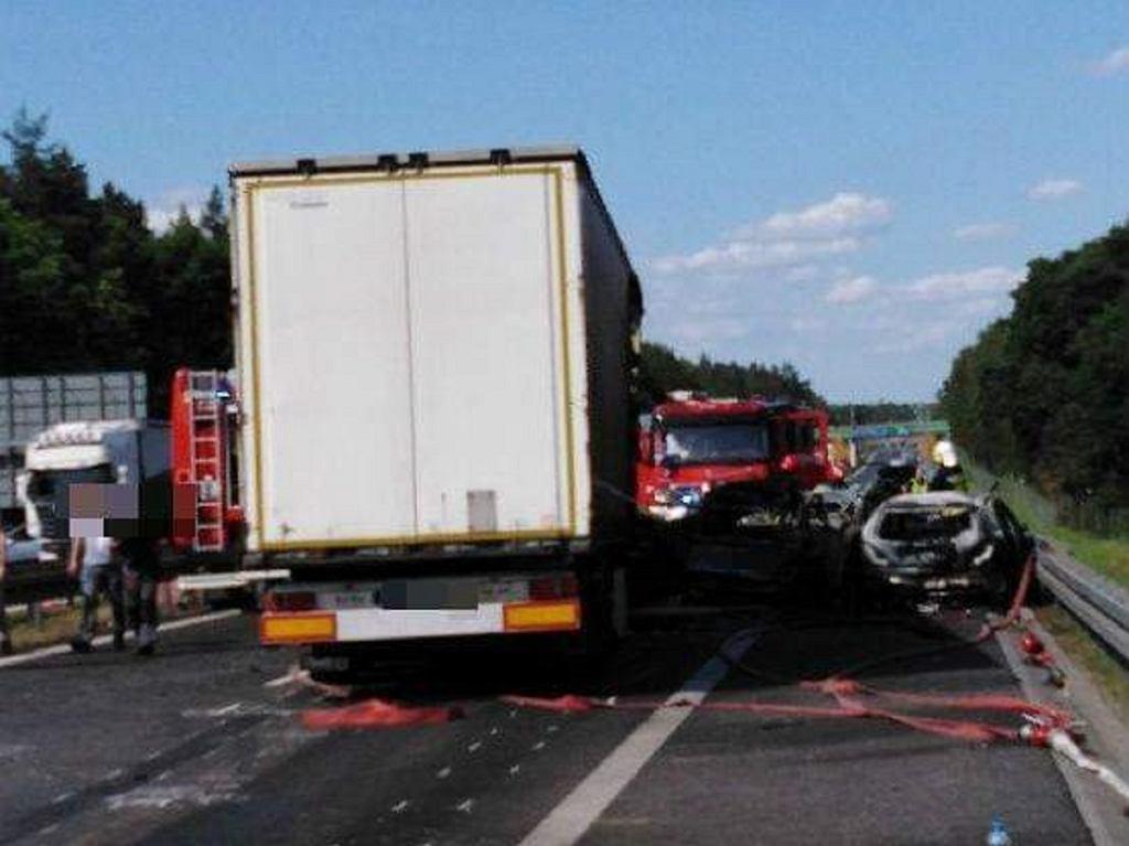 Wypadek pod Szczecinem na A6