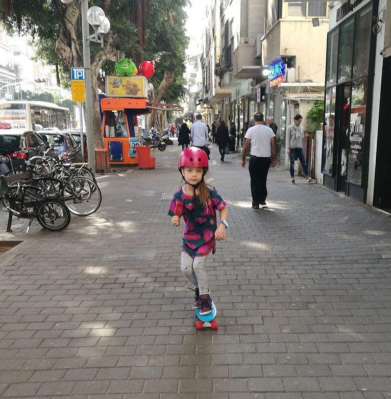 Helena Urzędowska w Tel Awiwie.