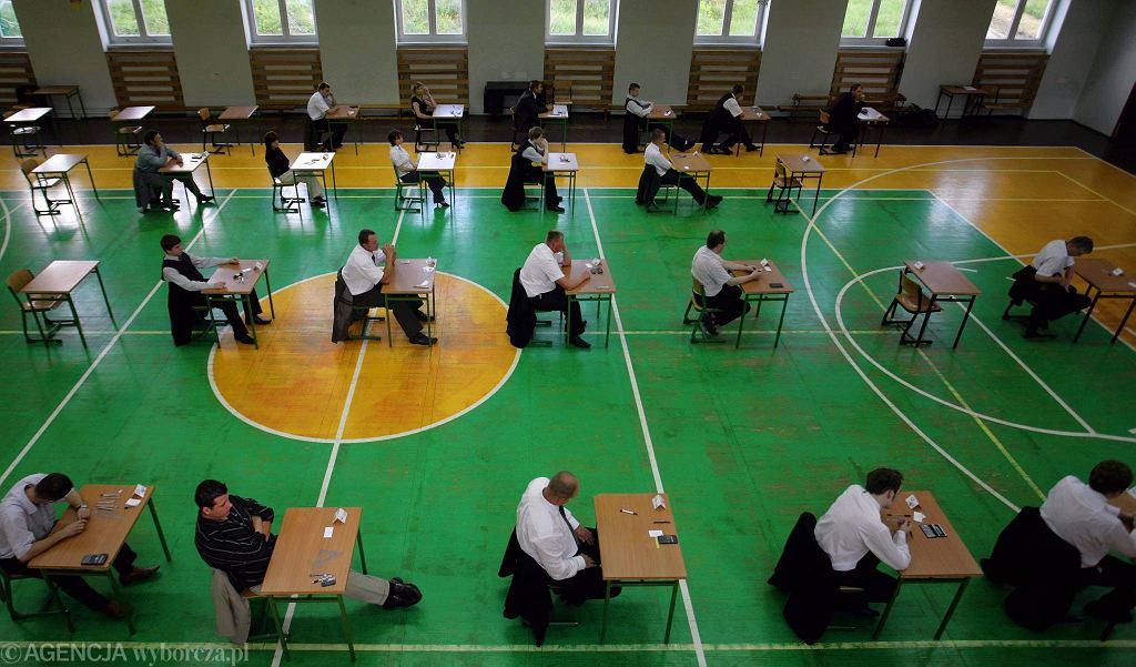 Egzamin zawodowy w szkole budownictwa