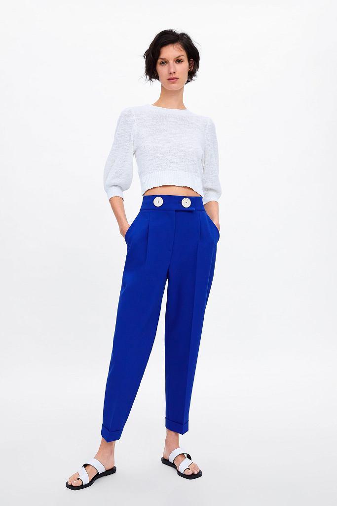 Spodnie w kolorze chabrowym