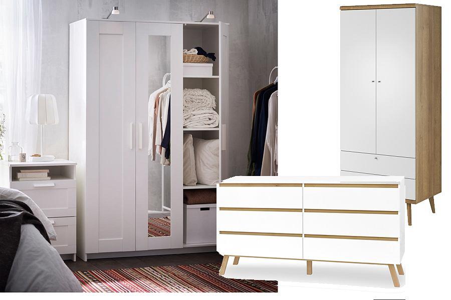 Jak tanio urządzić sypialnię - komody i szafy