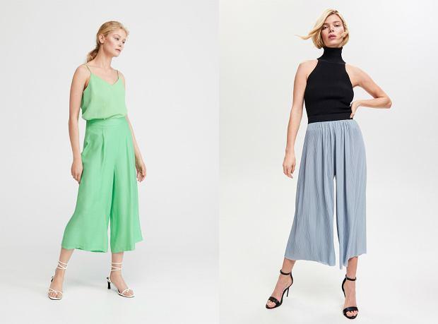 Szerokie spodnie w pastelowych kolorach