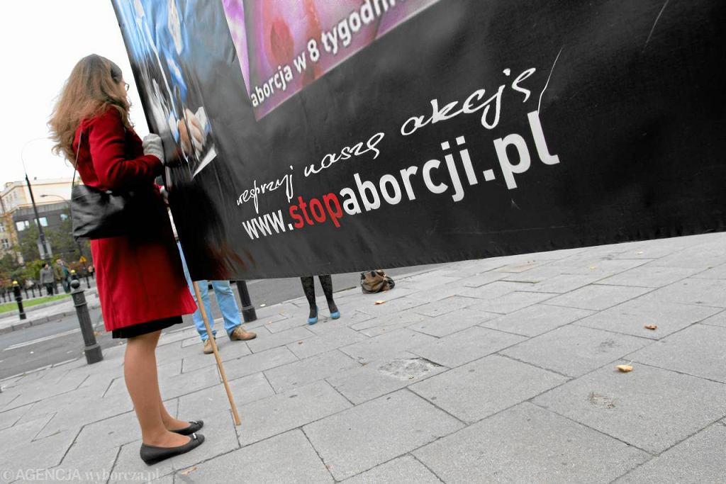 Demonstracja antyaborcyjna przed Sejmem