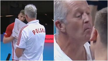 Vital Heynen w zabawny sposób odpowiedział Kamilowi Semeniukowi podczas przerwy w meczu Polska - Australia