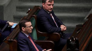 Premier Mateusz Morawiecki i minister Zbigniew Ziobro