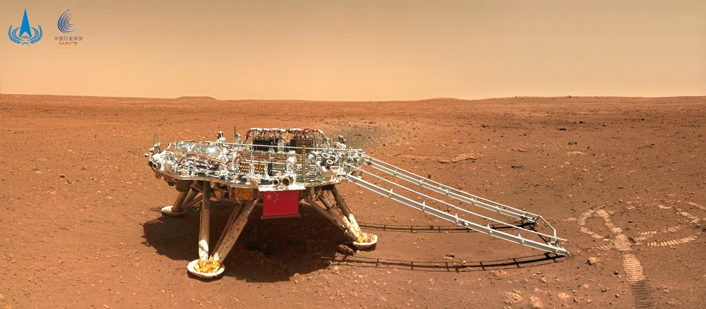 Zdjęcie chińskiego lądowania na Marsie