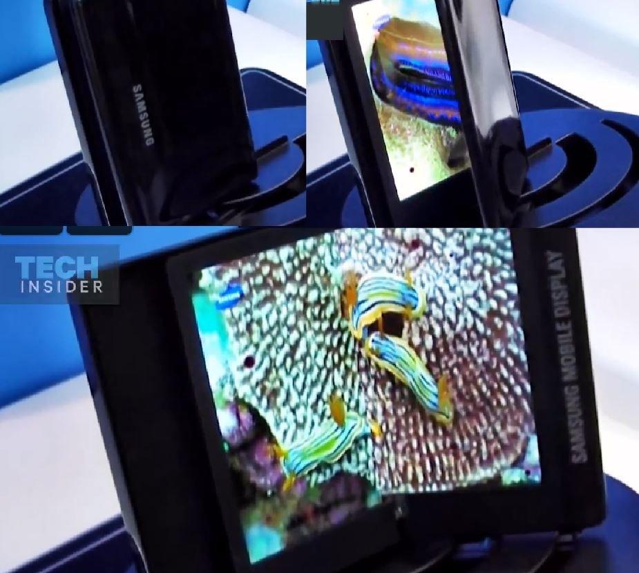 Zginany smartfon Samsunga