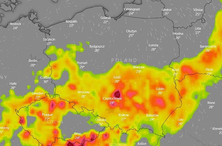 IMGW ostrzega przed burzami i upałem (zdjęcie ilustracyjne)
