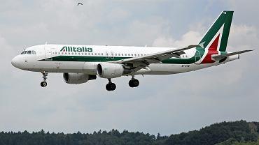 Samolot włoskich linii lotniczych