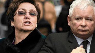 Danuta Wałęsa i Jarosław Kaczyński