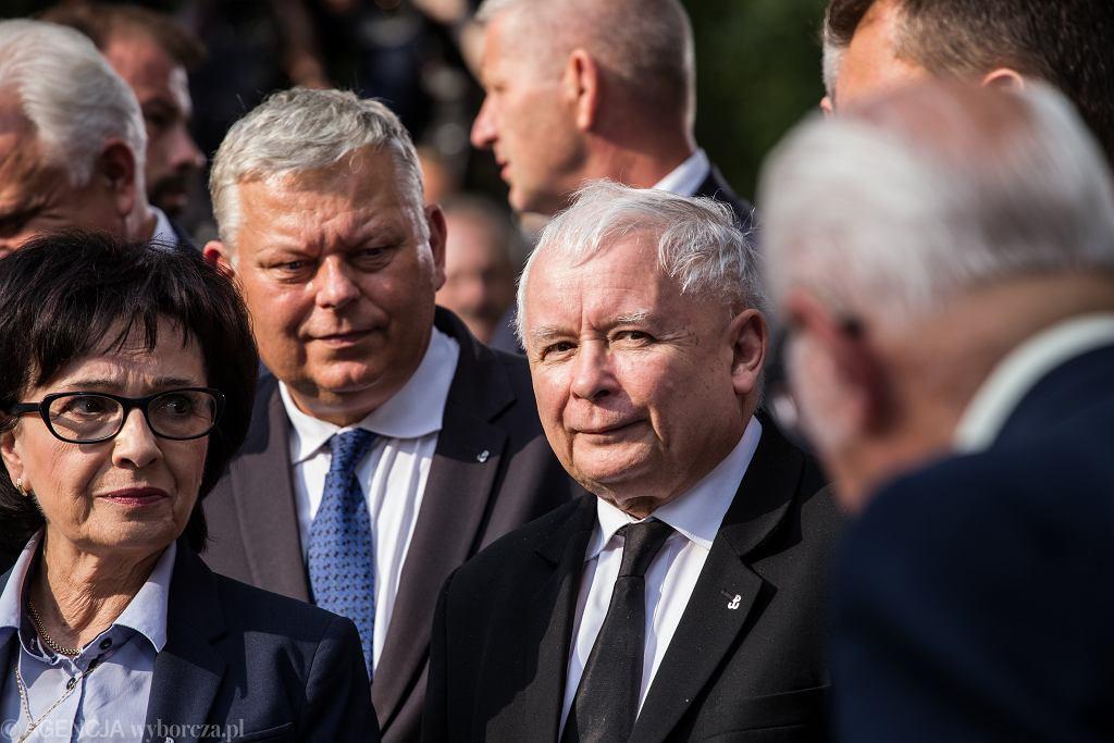 Obchody w Warszawie 75 . rocznicy wybuchu powstania warszawskiego. Na zdjęciu: prezes PiS Jarosław Kaczyński