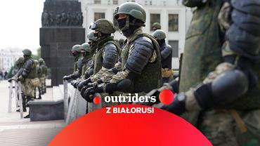 Białoruś. Pokojowy protest w Mińsku i funkcjonariusze OMON, 14.08.2020