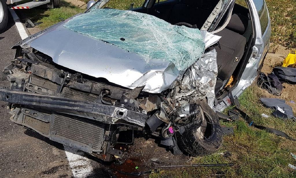 Wypadek na drodze wojewódzkiej nr 328