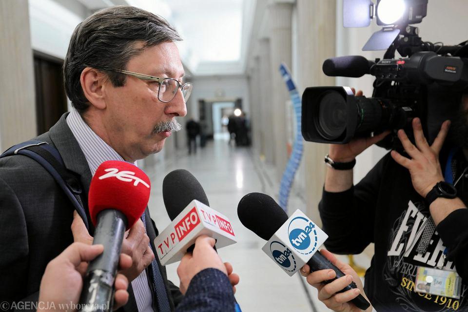 Senator Jan Żaryn po posiedzeniu komisji senackich w sprawie ustawy o IPN