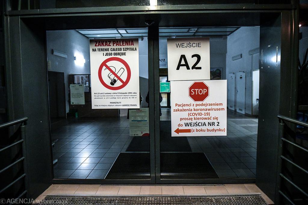 Szpital we Wrocławiu podczas epidemii koronawirusa
