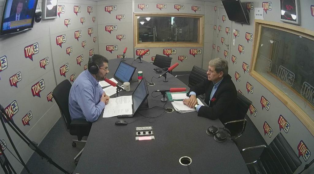 Leszek Balcerowicz w studiu TOK FM