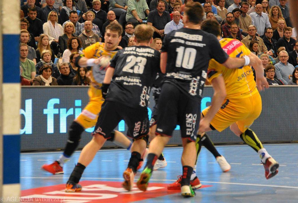 Flensburg, Velux EHF Liga Mistrzów piłkarzy ręcznych. SG Flensburg-Handewitt - Vive Tauron Kielce 28:28