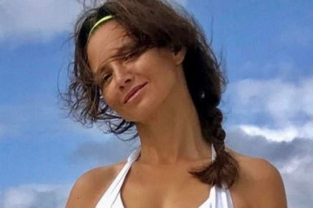 Kinga Rusin w bikini na plaży