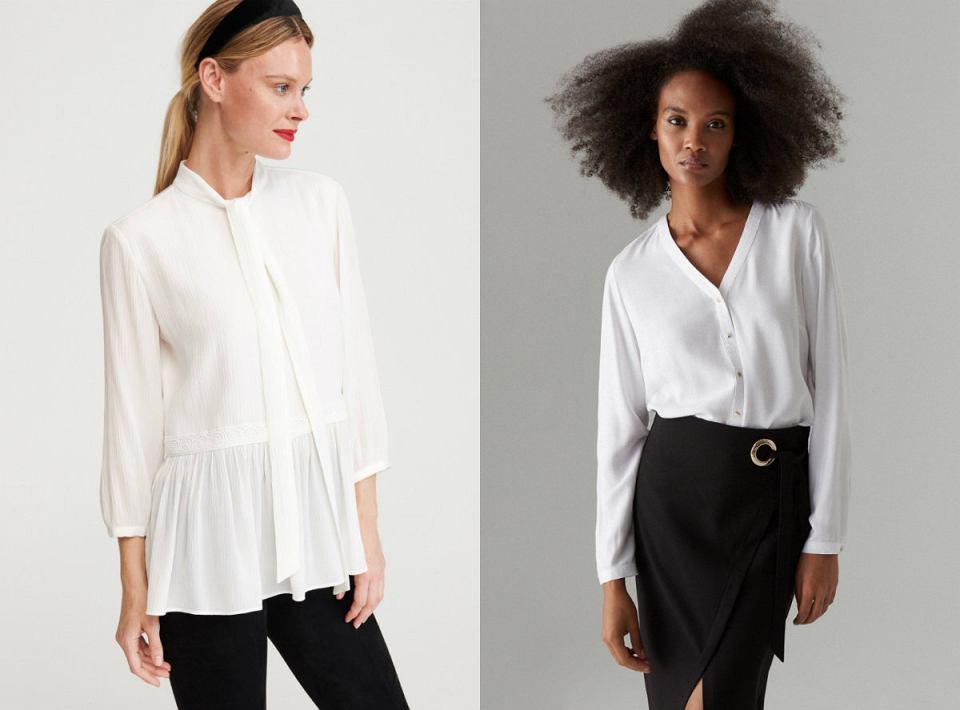 Białe bluzki koszulowe