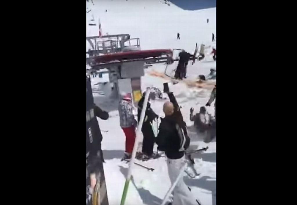 Wypadek na stoku narciarskim w Gruzji