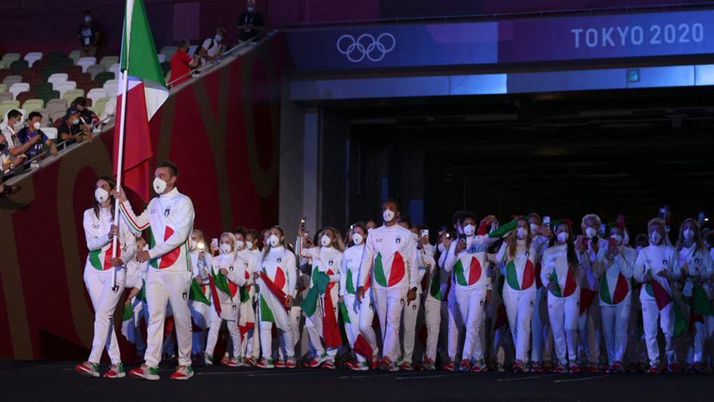 Reprezentacja Włoch na ceremonii otwarcia Tokio 2020