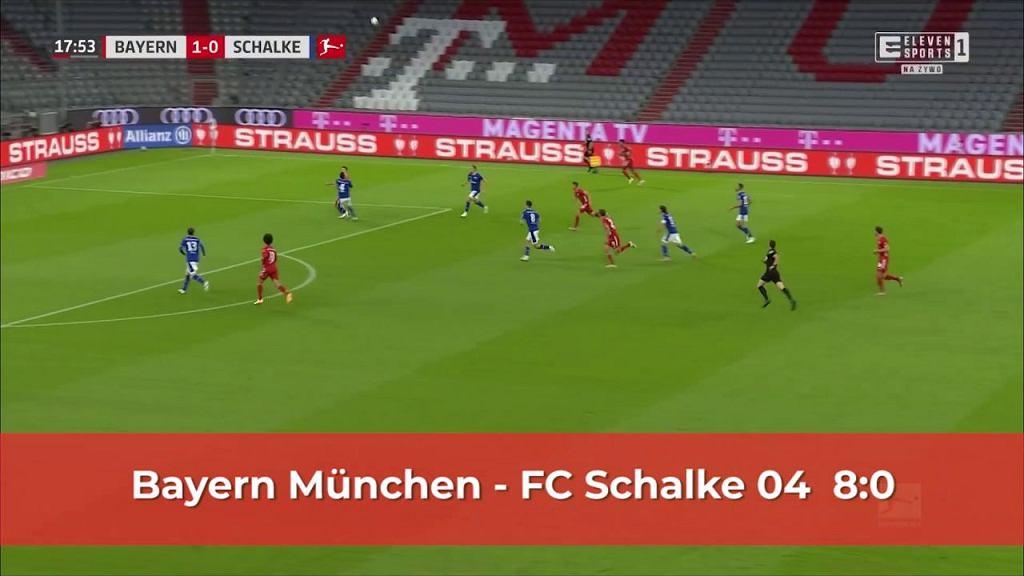Bayern Monachium 8:0 Schalke - Skrót meczu [ELEVEN SPORTS]
