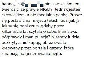 Komentarz Hanny Lis
